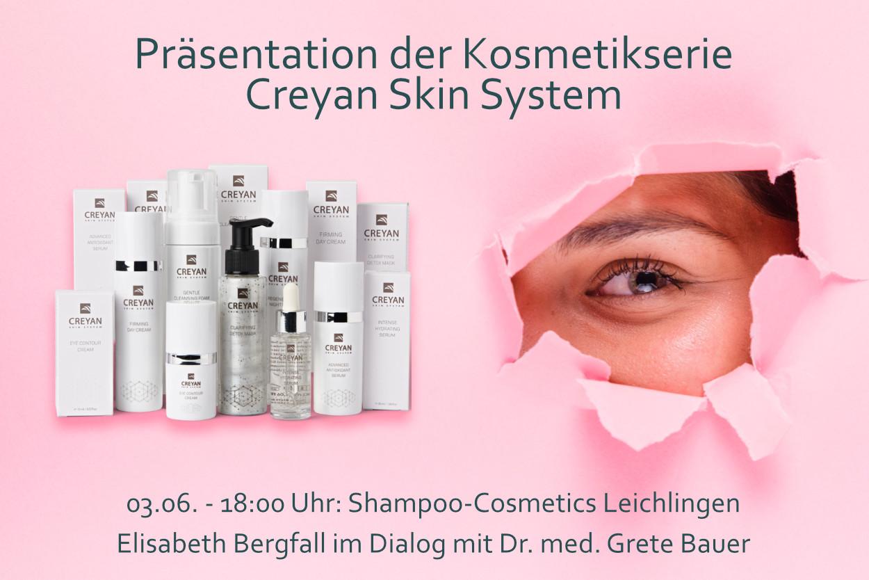 Präsentation der Kosmetikserie Creyan Skin System